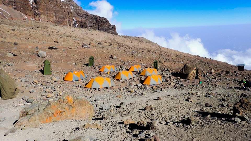Camping on Mount Kilimanjaro