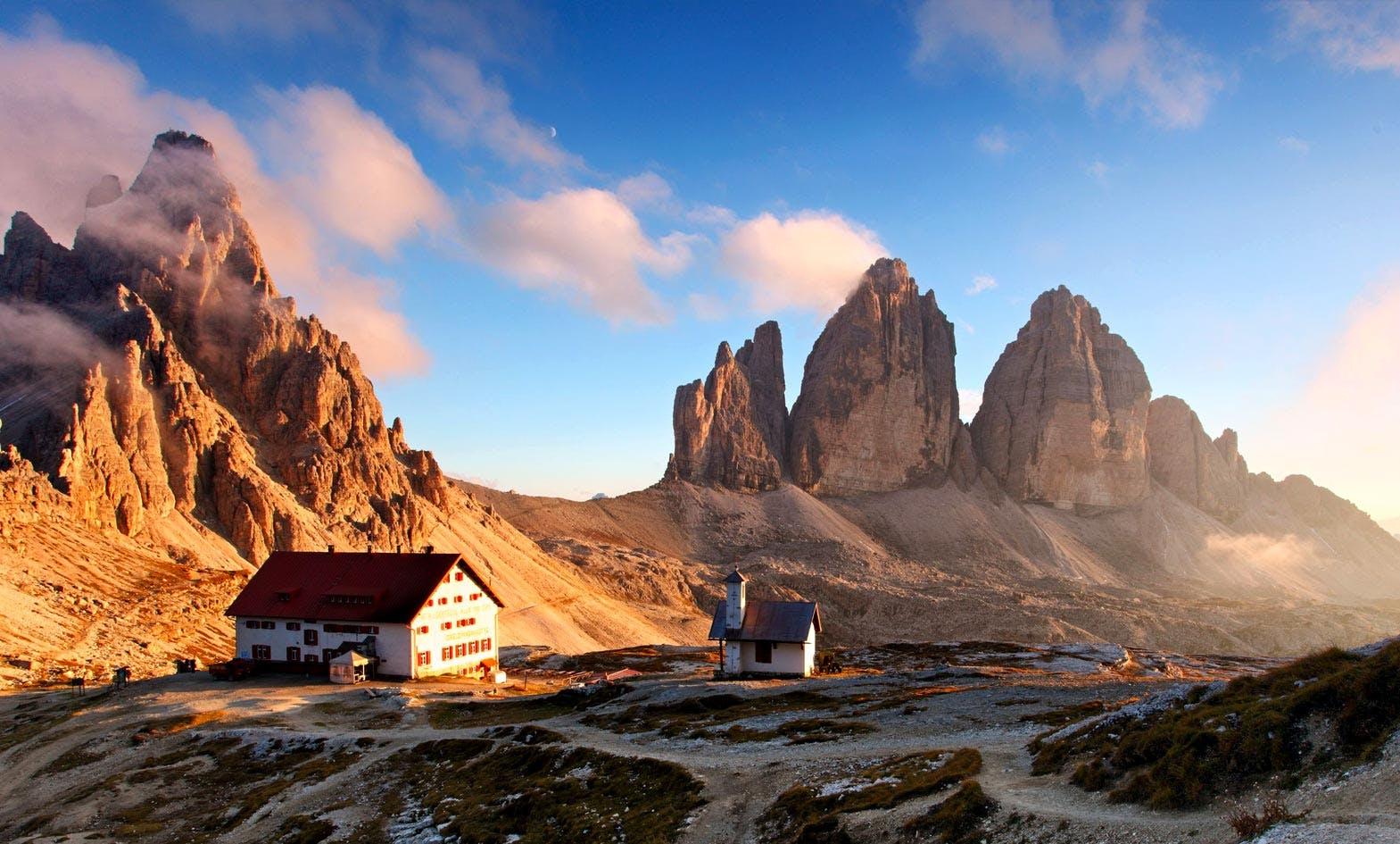 Sunrise Rifugio Dolomites Hut-to-hut Hiking Adventure Tours