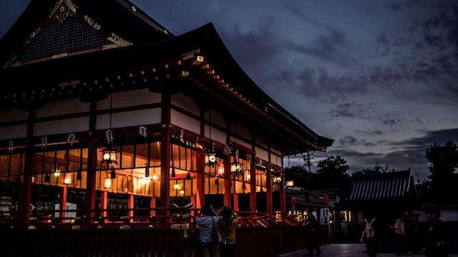 A Moonlit Walk in Japan