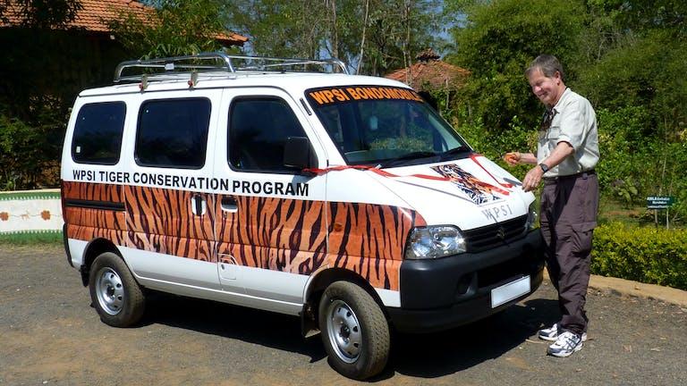WPSI Tiger Conservation Program branded van