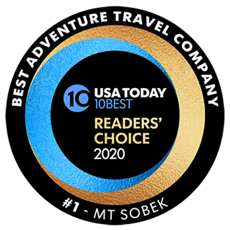 Best Adventure Travel Company - MT Sobek #1 - USA Today 10Best Readers' Choice 2020