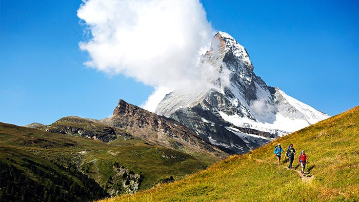 France Switzerland Alps Hiking Matterhorn Eiger Jungfrau Trilogy