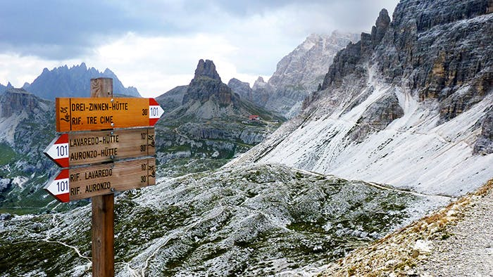 Italy Austria Dolomites Hiking Tre Cime