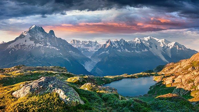 France Switzerland Italy Mont Blanc Chamonix Mer de Glace