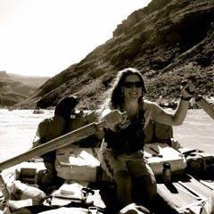 Mara Drazina, MT Sobek Director of Program Management for Rivers, rafting the Colorado River