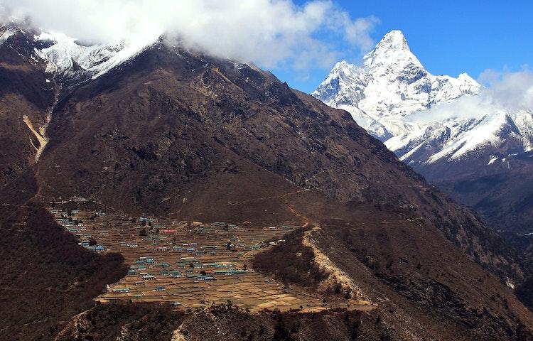 mountainside village - Nepal Everest Base Camp Trek