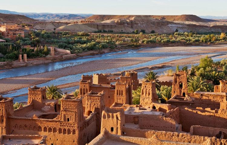 kasbah and river - Morocco High Atlas Mountain Trekking