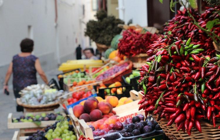 market stall - Italy Coastal Puglia Hiking