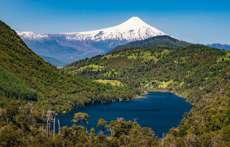 lake and volcano