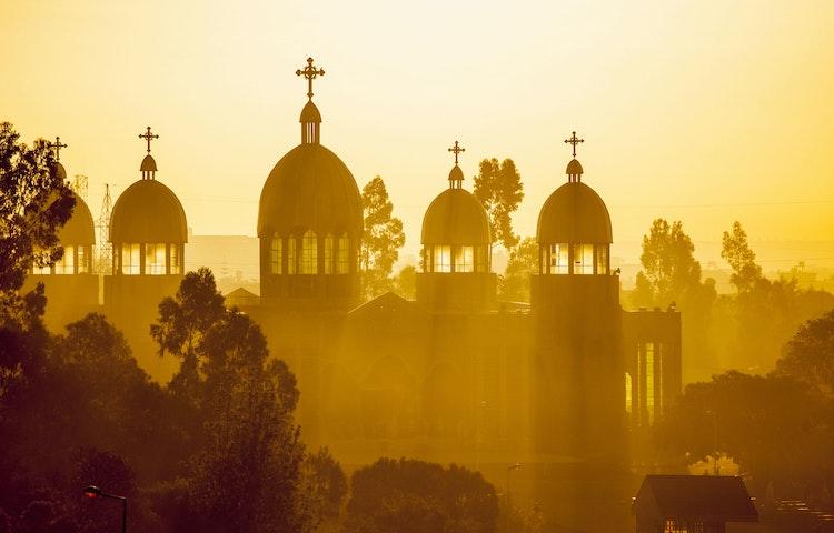 addis church at dawn