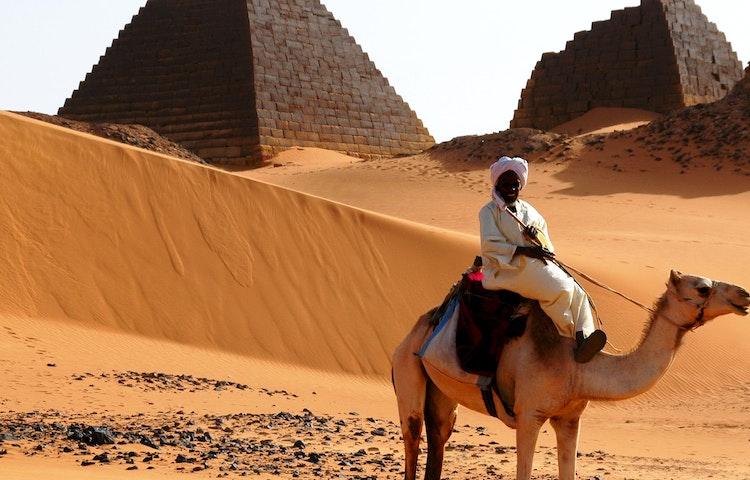 camel rider at meroe