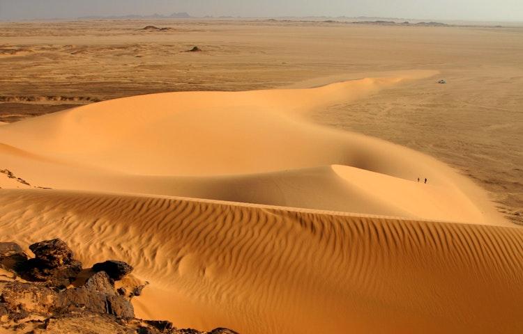 hikers in desert