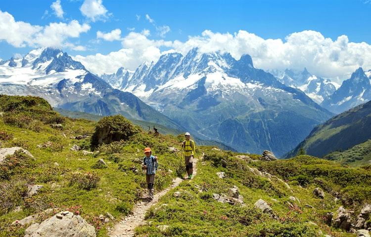 boys hiking - Alps Mont Blanc Family Adventure