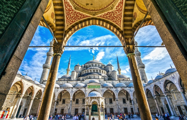 mosque arches - Turkey Cultural Discovery Private Adventure