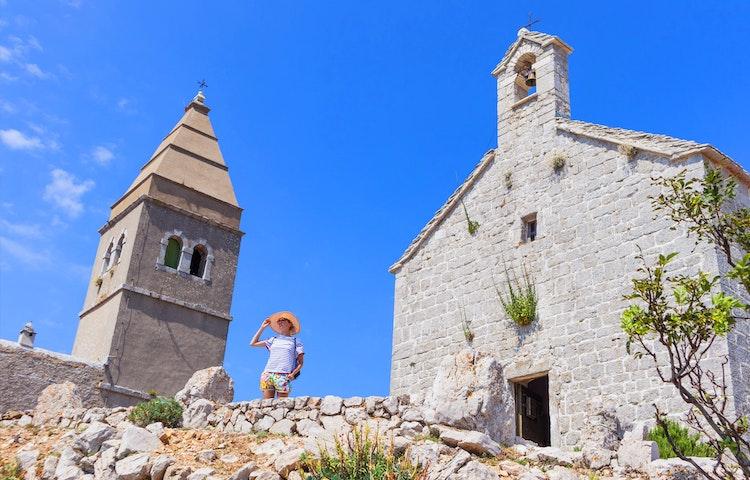 church woman - Croatia Istria and the Dalmatian Coast Hiking