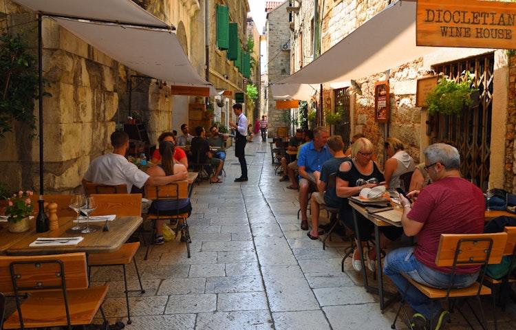 split cafe - Croatia Istria and the Dalmatian Coast Hiking