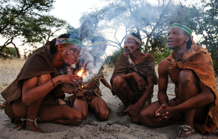 making fire - Angola Expedition