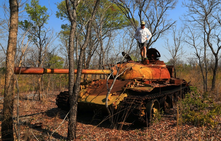 tank fall down go boom - Angola Expedition