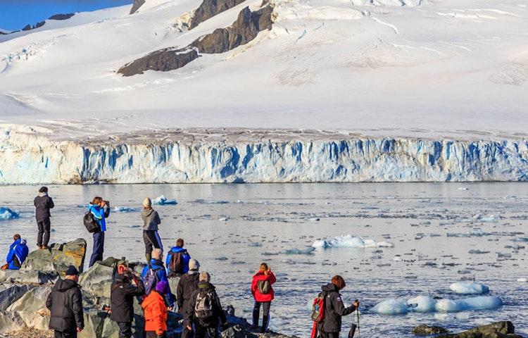 glacier - Antarctica Crossing the Antarctic Circle Adventure Cruising