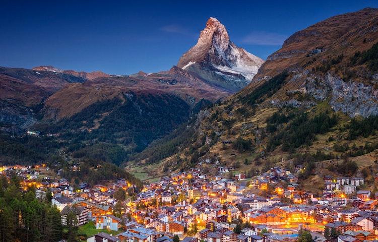 zermatt evening - Alps Chamonix & Zermatt Hiking