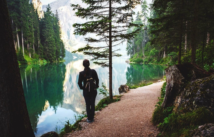 braies hiker - Italy Heart of the Dolomites Hiking