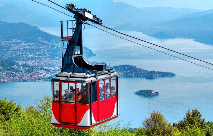 tram - Italy and Switzerland Lake District Hiking