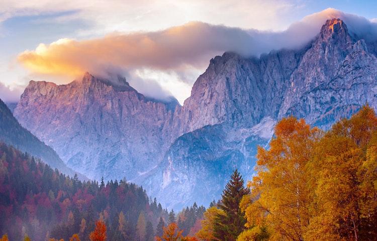 sunset - Slovenia Alps Hiking with Laurent Langoisseur