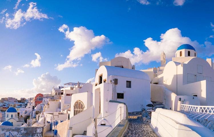 blue houses - Greece Naxos & Santorini Private Adventure