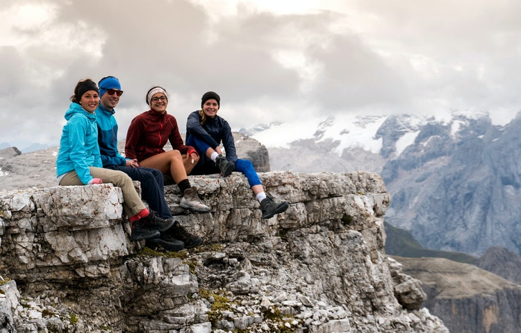 hikers - Italy Heart of the Dolomites Hiking
