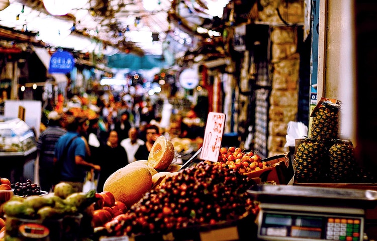 market scene - Israel Perspectives and Peoples Cultural Discovery