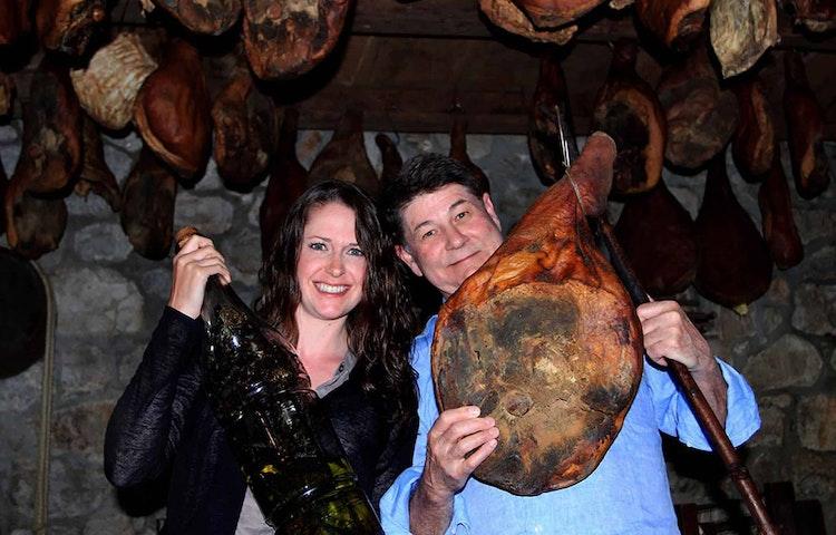 couple with ham - Croatia Istria to Veneto Hiking