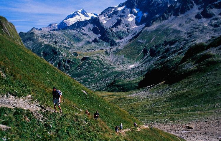 hiking up green ridge