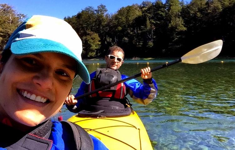 happy kayakers - Argentina Patagonia & Lake District Multi-Adventure