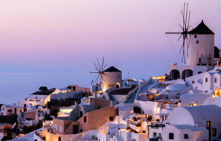 windmills - Greece Naxos & Santorini Private Adventure