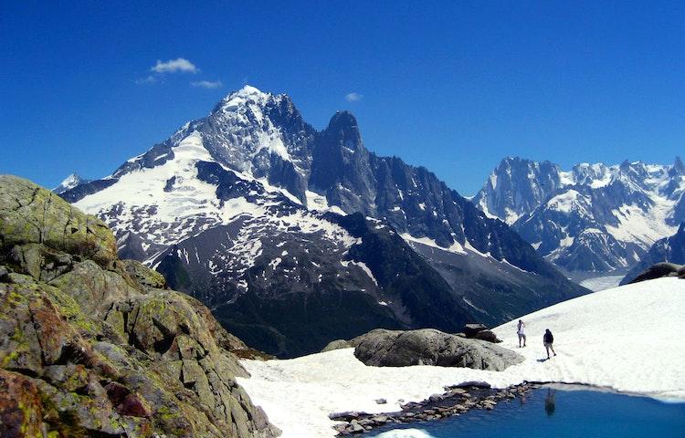 two at lac blanc - Alps Tour du Mont Blanc Hiking