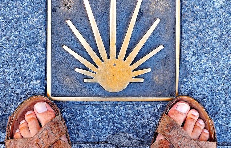 feet at camino emblem