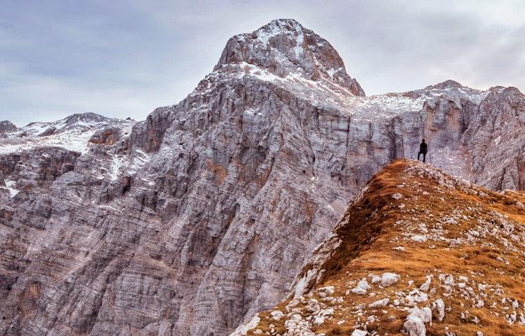hiker - Slovenia Alps Hiking with Laurent Langoisseur