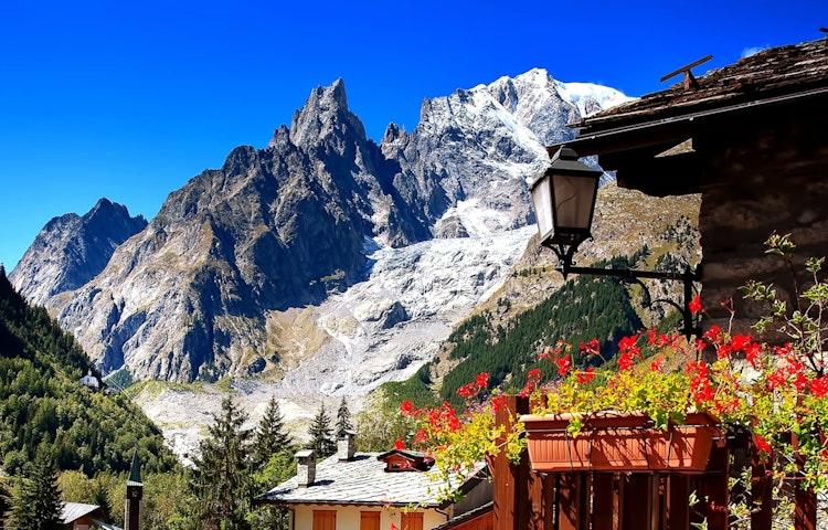 courmayeur view - Alps Tour du Mont Blanc Hiking