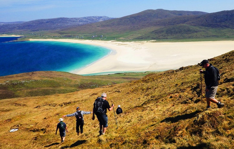 hiking on the hebrides