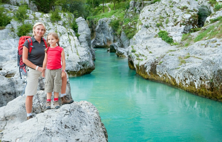 family - Slovenia Alps Hiking with Laurent Langoisseur