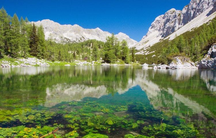 lake - Slovenia Alps Hiking with Laurent Langoisseur