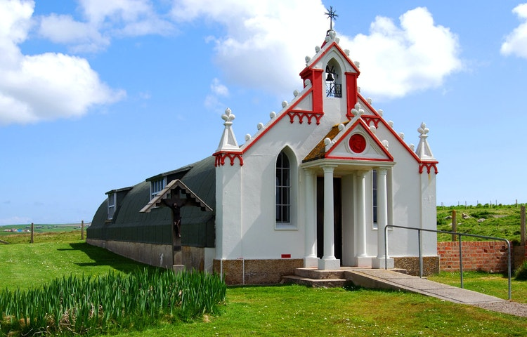 chapel exterior - Scotland Orkney Isles Private Adventure