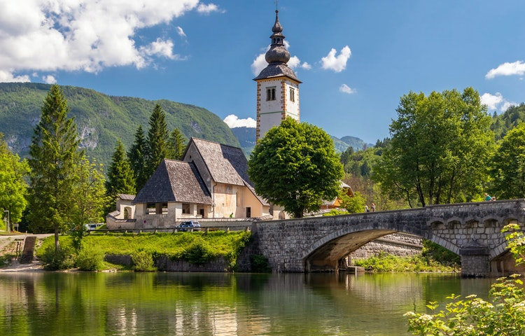 church - Slovenia Alps Hiking with Laurent Langoisseur