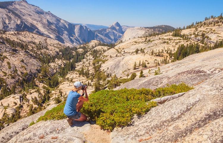 photographer - California Yosemite National Park Hiking Adventure