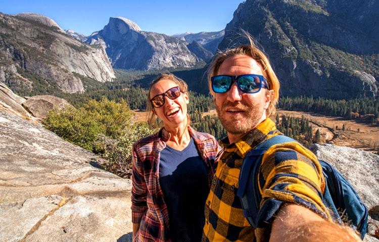 selfie - California Yosemite National Park Hiking Adventure