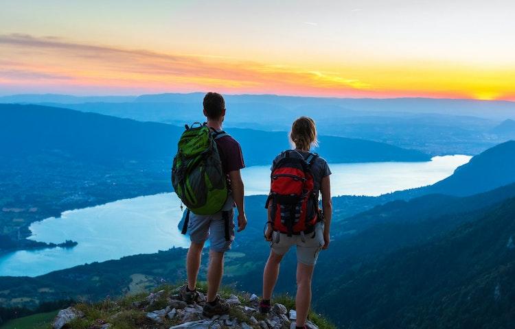 lake - Alps Chamonix to Annecy Hiking