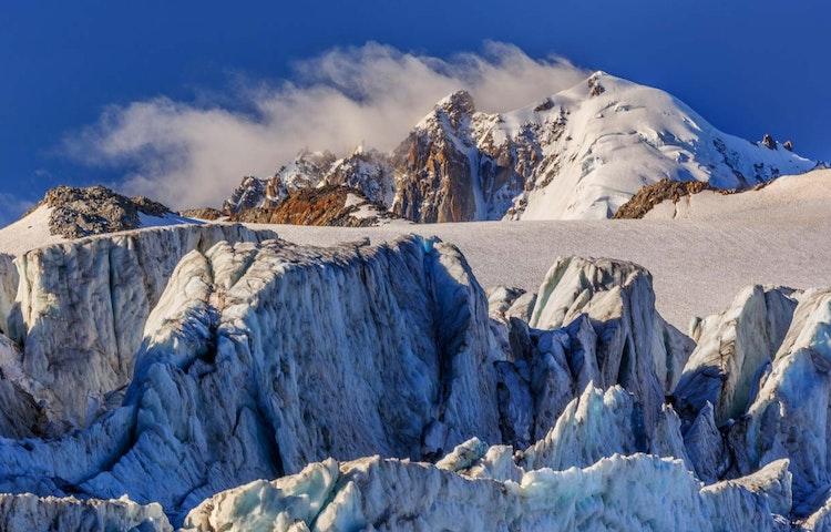 snow - Alps Chamonix to Annecy Hiking
