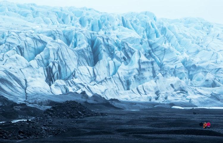 couple at glacier