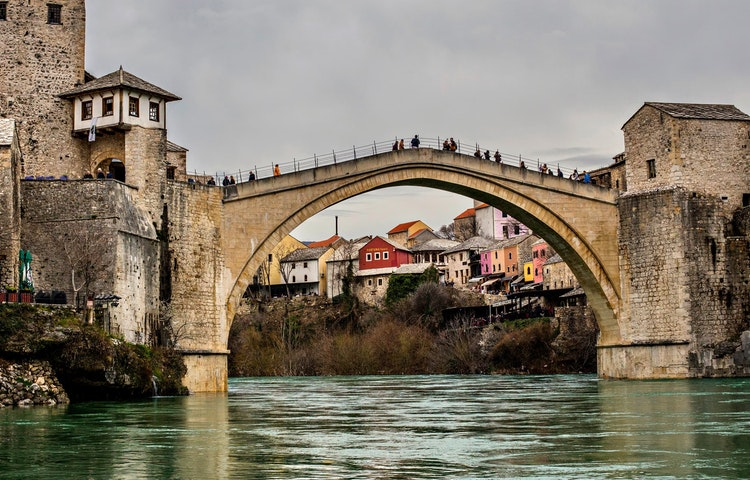 mostar bridge - Balkans Via Dinarica Hiking
