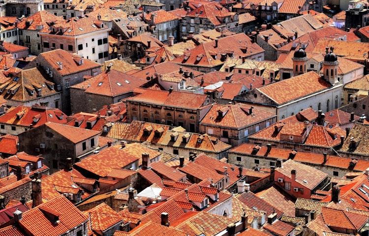 red roof scenic - Croatia Istria to Veneto Hiking